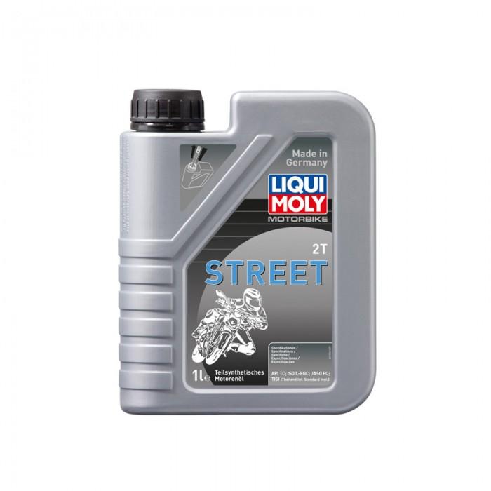 Liqui Moly Oil 2-Stroke Semi Synth - Motorbike Street 10W-40 1 Litre