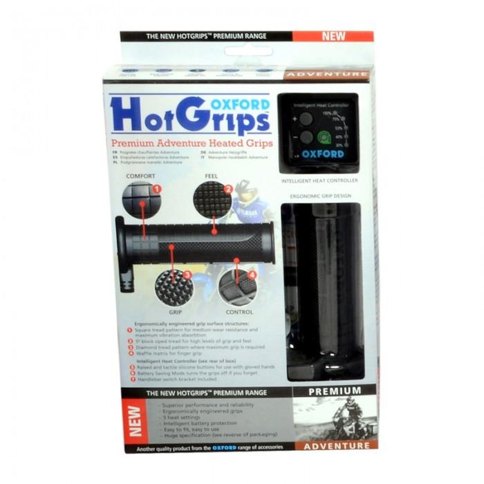 Oxford Hotgrips Premium Heated Grips - Adventure - UK Specific