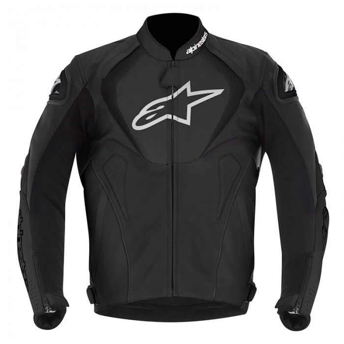 Alpinestars Jaws Leather Jacket Blk / Blk