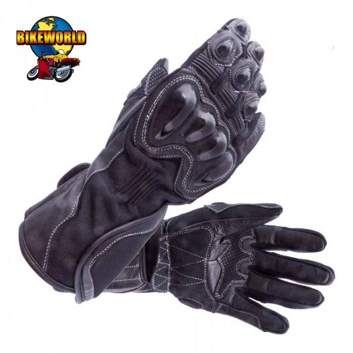 Bikeworld Leather Gloves Black