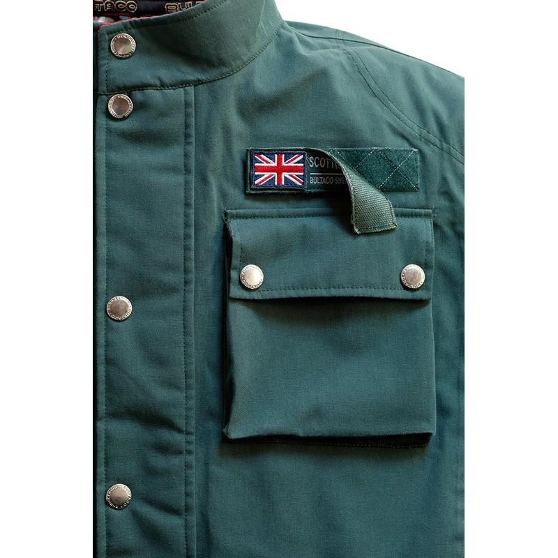 Bultaco Heritage Textile Jacket Green Bikeworld Ireland
