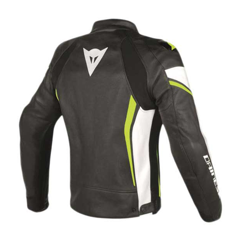1f9a2aa08c3 Dainese Assen Leather Jacket Blk Wht Yel - Bikeworld Ireland