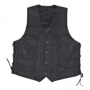 Modeka Leather Vest Black