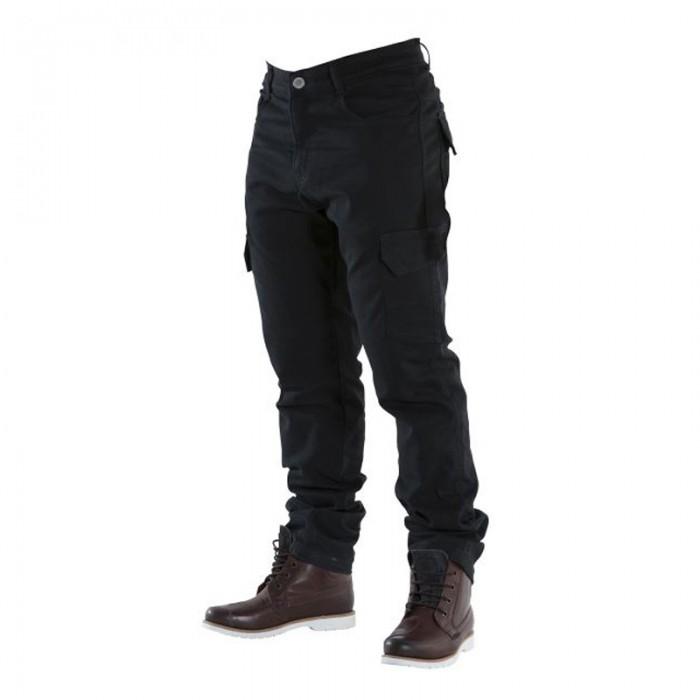 Overlap Cargo Jeans Black