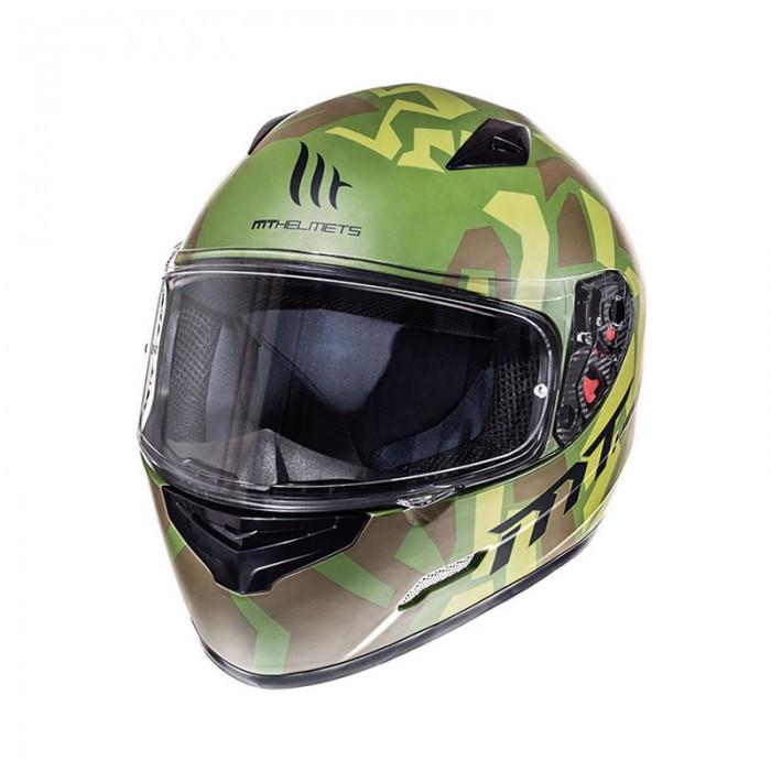 MT Mugello Leopard Military Green Helmet