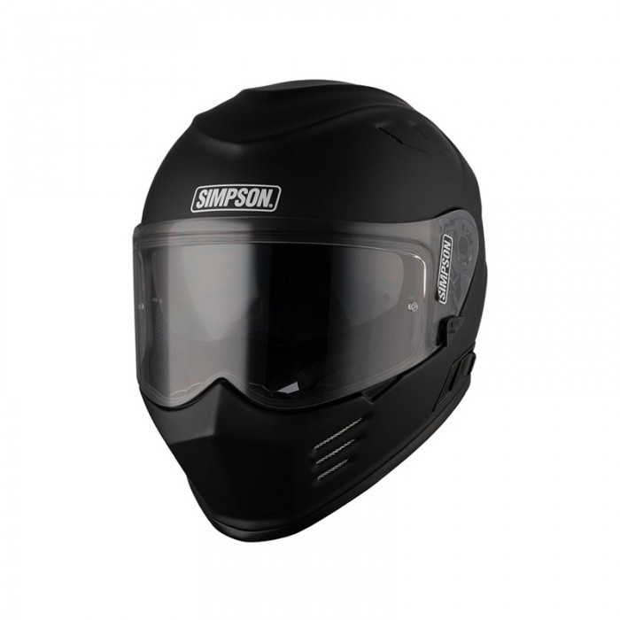 Simpson Venom Solid Matt Black Helmet