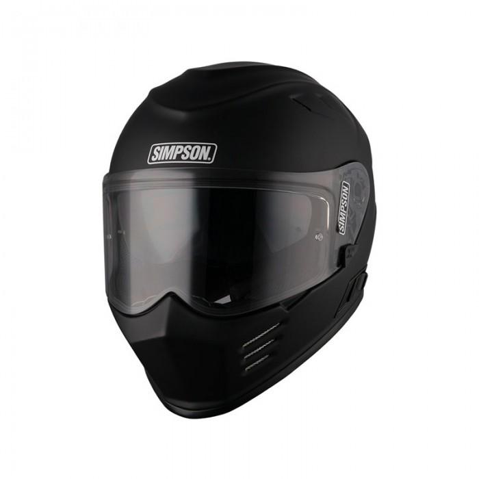 Simpson Venom Solid Matt Black Helmet