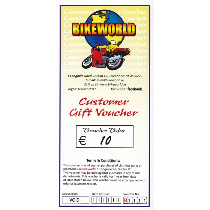 Bikeworld Gift Voucher