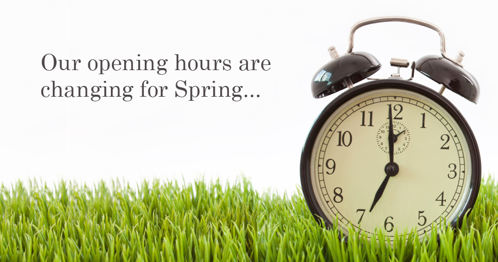 Our Opening Hours Are Changing For Spring Motorcycles