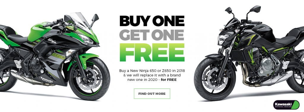 Buy One Kawasaki, Get one Free!